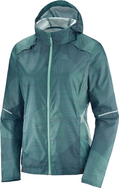 Salomon AGILE WIND PRINT HOODIE W Reflecting/Wa