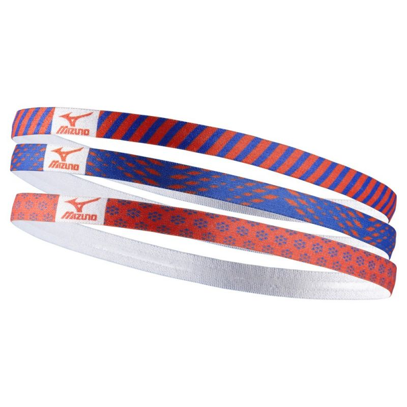 Mizuno Training 3P Headband1pack/FCoral/Dazzling Blue/one size